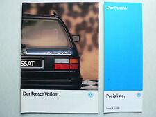 PROSPEKT VOLKSWAGEN VW PASSAT Variant, 1.1990, 40 PAGINE + LISTINO PREZZI 12.1989