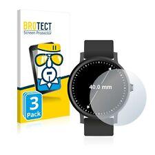 3x Schutzpanzer Glasfolie für Armbanduhren (Kreisrund, Durchmesser: 40 mm)