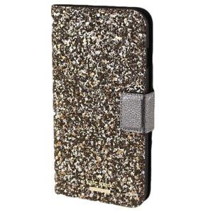 Kate Spade New York 256510 Glitter Wrap Gunmetal Gold iPhone X/Xs Folio Case