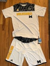 Adidas Michigan Basketball Player Shorts And Shirt Men's Medium New W Tags White