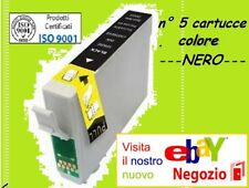 n 5 CARTUCCIA NERO CERTIFICATE ISO 9001 COMPATIBILE CON Epson Stylus Photo R320