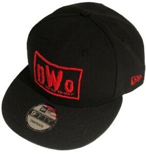 NWO New World Order WWE Wrestling New Era 9Fifty Snapback Black Red Hat Cap