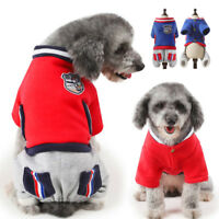 Dog Jumpsuit Coat Small Dog Hoodie Sport Jacket Pet Puppy Clothes French Bulldog