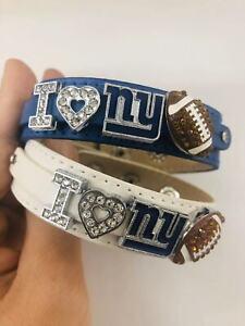 I Love New York Giants Rhinestone football Bracelet / NFL Giants fans/