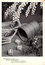 BG8543 dice flower fir branch  neujahr new year greetings germany