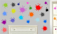 Paint Splats Pack of 24 Wall Art Stickers Decals Fun Colourful Childrens Murals