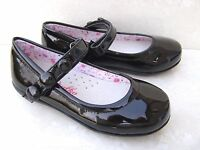 NEW GIRLS LEATHER INSOLES BLACK NAVY PATENT BALLERINAS FORMAL PUMPS SCHOOL SHOES