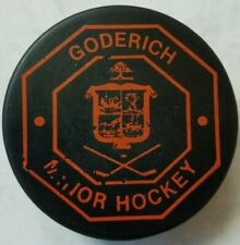 Goderich Minor Hockey Vintage Made In Czechoslovakia Hockey Puck Official Cooper