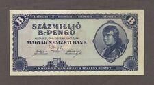 1946 100 QUINTILLION PENGO HUNGARY UNC LARGEST DENOMINATION BANKNOTE BILL NOTE