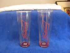 New listing Budweiser Red Letter 16 oz Beer Glass drinking lot of 2.