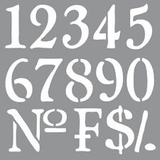 Olde World Numbers, American Decor Stencil, 12 x 12, #ADS09