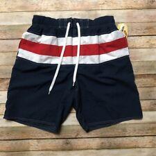 Newport Blue White Red Drawstring Blue Mens Swimming Trunks M Pockets