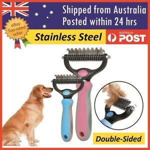 Dog Pet Cat Fur Dematting Grooming Deshedding Trimmer Tool Comb Brush Size S/L