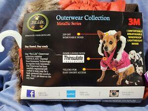 Pet Life Classic Metallic Fashion 3M Insulated Dog Coat Parka (New - Size Small)