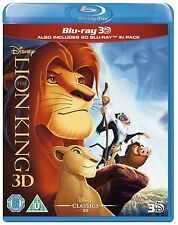 THE LION KING 3D [Blu-ray 3D + Blu-ray Disc] Classic Disney Movie OOP in the US