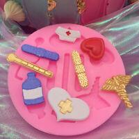 Nurse Medical Silicone Fondant Cake Decor Mold Sugarcraft Chocolate Baking Mould