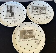 """I LOVE LUCY THREE 8"""" TELEVISION EPISODE RARE NICK AT NITE 1997 PLATES JAPAN"""