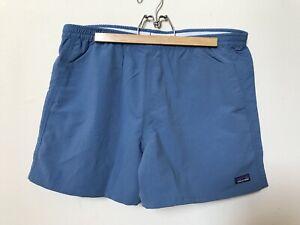 NWT Patagonia Women's Baggies Shorts Large Woolly Blue