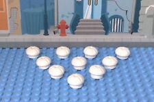 Lego 10 Kochmütze 3898 in weiß Neu