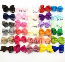 30pcs/lot 8cm Grosgrain Ribbon Flower Bows For Headbands NO CLIPS