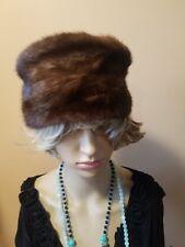 Vintage Mink Dark Fur Hat