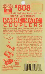 Kadee S Scale Coupler Kit - #808 Brown