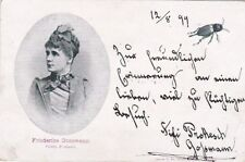 FRIEDERIKE GOSSMANN, German Actress (1853-1906) autographed postcard photo