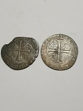 More details for french 1380 1422 medieval crusader knights templar cross silver coin middle ages
