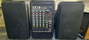 Stereo Powered Mixer PA power amplifier sound system speakers 80w 4 channel