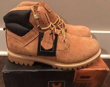 "Kingshow M1355 Men's 6"" Padded Collar Boots Wheat Brown Sz 8.5 - NIB"