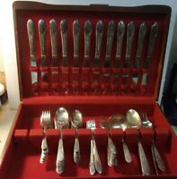 1940'S Wm Rogers Original Rogers PRISCILLA LADY ANN Flatware Silverplate