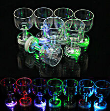 Excellent Much Modish Flashing Led Wine Glass Light Up Barware Drink Cup NT