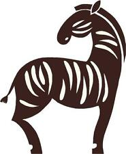 Zebra animale africaine autocollant sticker slihouette étiquette en vinyle graphique dos