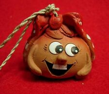 Beautiful funny ceramic hand made bell - amulet from Russia
