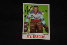 HOF ED GIACOMIN 1970-71 TOPPS SIGNED AUTOGRAPHED CARD #68 RANGERS