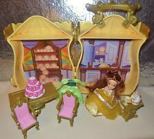 HTF DISNEY ROYAL KINGDOM PRINCESS BEAUTY BEAST BELLE DOLL CARRY CASE PLAYSET LOT