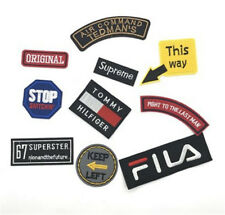 Letter Sports Logo Embroidery Sew Iron On Patch Badge Transfer Biker Jacket Hat