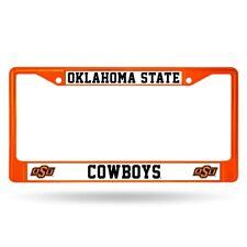 Oklahoma State Cowboys NCAA Licensed Orange Painted Chrome Metal License Frame