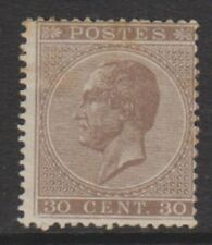 Belgium - 1866, 30c Brown - Perf 15 - M/M - SG 36 (Cat. £1100)