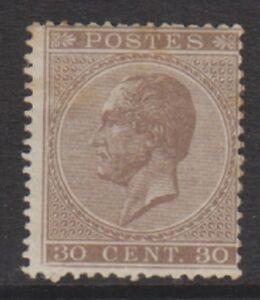 Belgium - 1866, 30c Brown - Perf 15 - M/M - SG 36 (Cat. £1100)