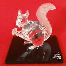 SQUIRREL figurine Swarovski Crystal10th Anniversary 1997 NEW IN BOX #208433