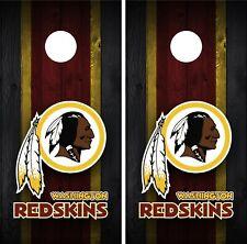 Washington Redskins Cornhole Wrap Decal Stickers Vinyl Gameboard Skin Set JC059