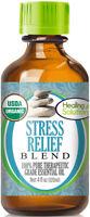 Organic Stress Relief Essential Oil Blend (100% Pure - USDA Certified Organic)
