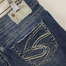 Silver Aiko Capri Women's Medium Wash Blue Jeans Size 29x23