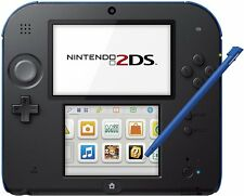Genuine Nintendo 2DS Handheld Gaming System w/Charger (Electric Blue) VG - GST3