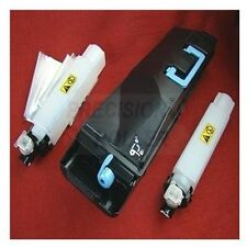 Kyocera TK857K Tk-857k Black Toner Cartridge And 2 Waste Containers For Use In