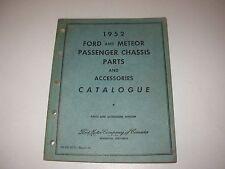 1952 Ford & Meteor Passenger Cars Parts Manual Catalog , all models