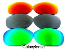 Galaxy Replacement Lens For Oakley Pit Bull Sunglasses Green&Gray&Red Polarized
