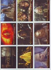 """LORD OF THE RINGS """" TWO TOWERS """" 20 CARD CADBURY / TOPPS SET 2003 ."""