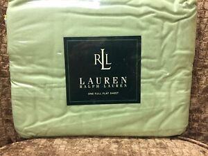 NEW Ralph Lauren Solids Honey Dew Green Full Flat Sheet 250T 100% Cotton